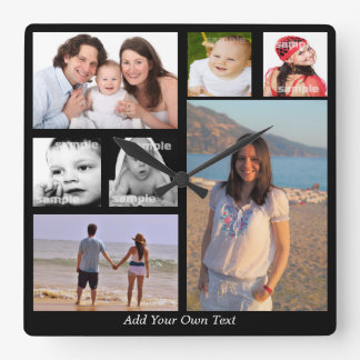 Design Your Own Personalized One Of A Kind Square Wall Clock