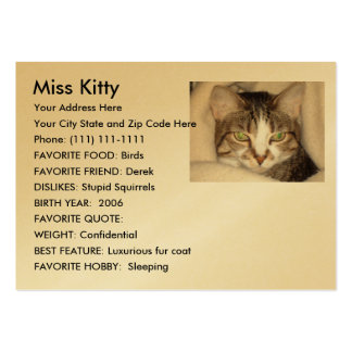 Design your own pet card large business cards (Pack of 100)