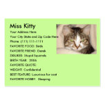 Design your own pet card business card template