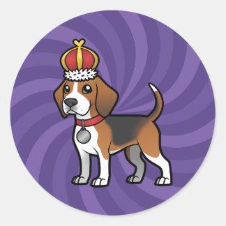 Design Your Own Pet Classic Round Sticker