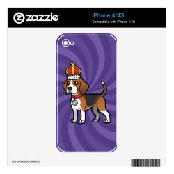 iPhone 4/4S Skin with Beagle Phone Cases design