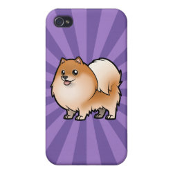 Case Savvy iPhone 4 Matte Finish Case with Pomeranian Phone Cases design