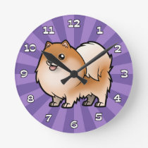 Design Your Own Pet Round Clock