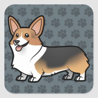 Design Your Own Pet Square Sticker