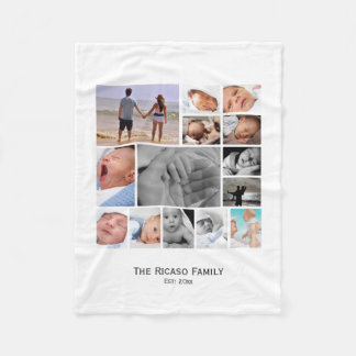 Design Your Own Photo Collage Personalized Fleece Blanket