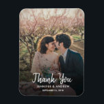 """Design your own photo Thank you Wedding Magnet<br><div class=""""desc"""">Design your own photo Thank you Wedding card. Elegant photo magnet to say Thank you to your wedding guests. You can add your own photo,  add your own text and names.</div>"""