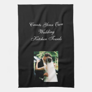 Design Your Own Photo Wedding Kitchen Towel