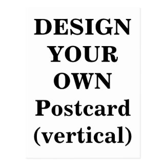 Design Your Own Postcard (vertical)