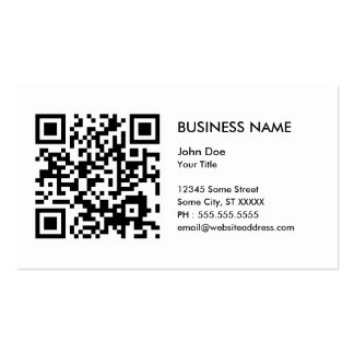 design your own QR code Business Card Template