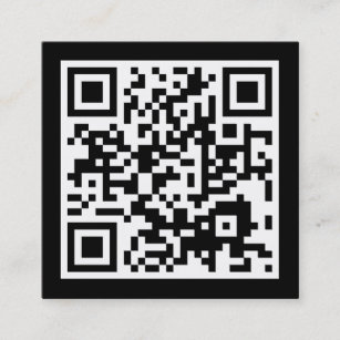 Qr code business cards zazzle design your own qr code square business card reheart Image collections