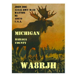 Design Your Own QSL HAM Radio Operator Op Moose Postcard