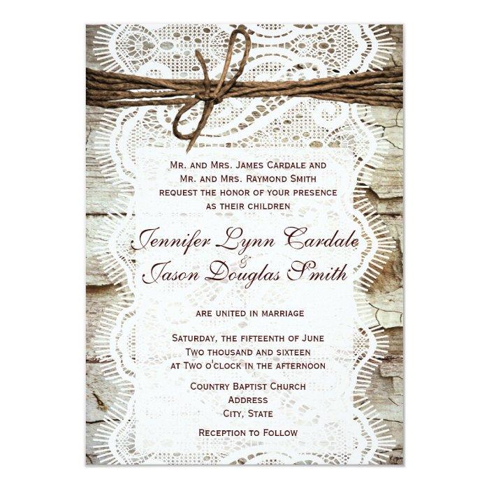 Design Your Own Wedding Invitations: Design Your Own Rustic Country Wedding Invitations