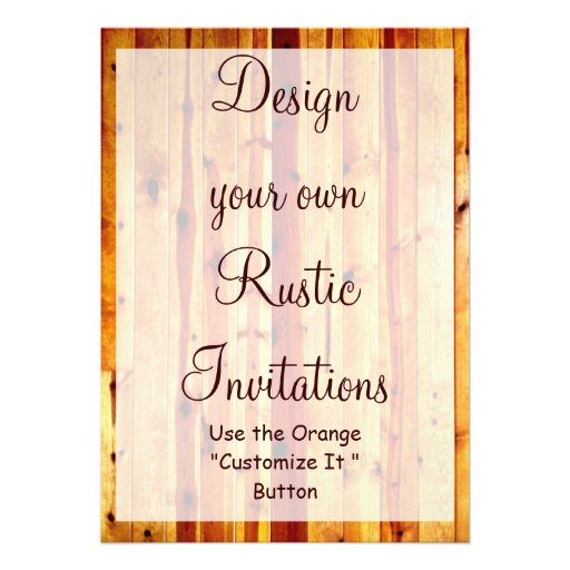design your own rustic invitations blank template 5 u0026quot  x 7 u0026quot  invitation card