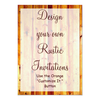 Design your Own Rustic Invitations Blank Template
