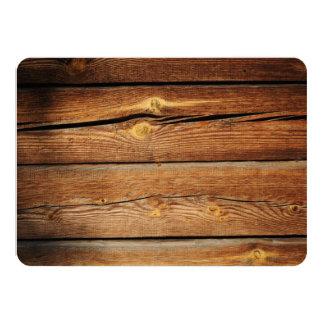 "Design Your Own Rustic Wood Invitations 4.5"" X 6.25"" Invitation Card"