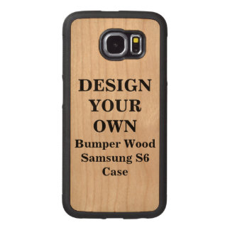 Design Your Own Samsung S6 Bumper Wood Case