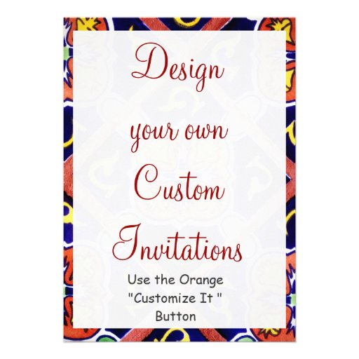 "Design Your Own Southwestern Invitations Templates 5"" X 7"