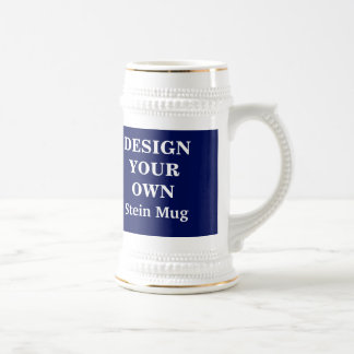 Design Your Own Stein Mug - Blue and White