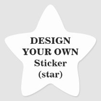 create, your, own, sticker, star, make, design, template, Sticker with custom graphic design