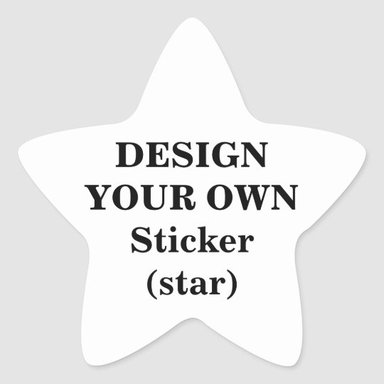 Design Your Own Sticker (star)