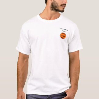 Design Your Own T-Shirt Small Logo and Text Front