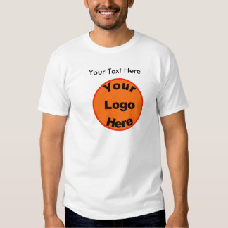Design Your Own T-Shirt W/Logo & Front & Back Text