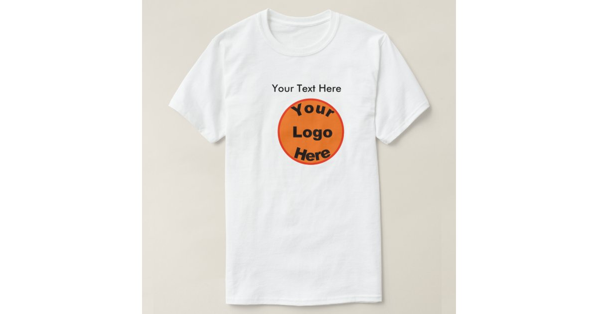 Design Your Own T-Shirt W/Logo u0026 Front u0026 Back Text : Zazzle