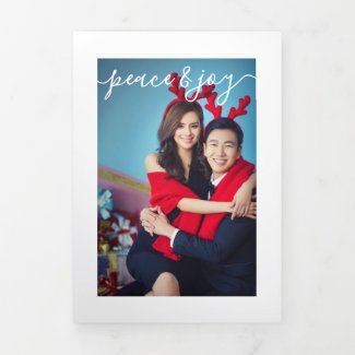 Design Your Own Ten Photo Collage Tri-Fold Holiday Card