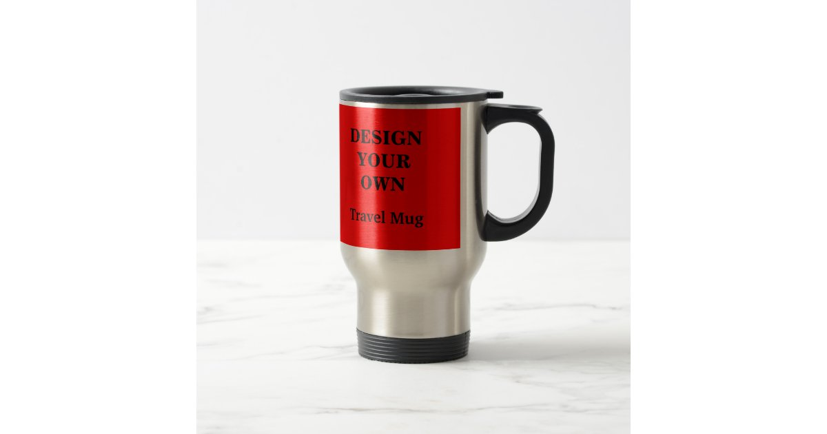 Travel Mug Red And Silver Zazzle