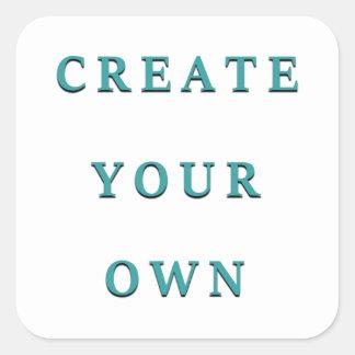 Design Your Own Unique DIY Square Sticker
