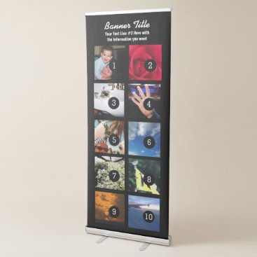 Professional Business Design Your Own Vertical Banner 10 pics  text easy