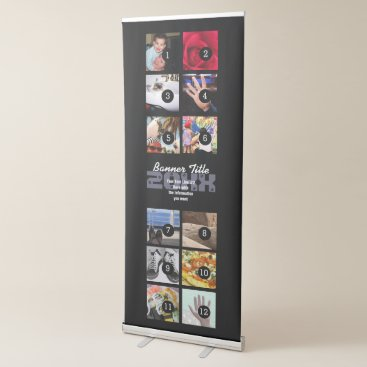 Professional Business Design Your Own Vertical Banner 12 pics  text easy
