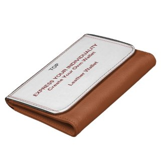 Design Your Own Wallet - Genuine Leather (Medium Size in Brown shown)