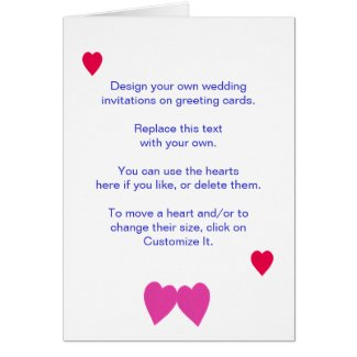 Design Your Own Wedding Invitations on Cards