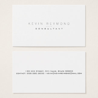 design your own white & clear pro standard business card