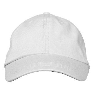Design Your Own White Embroidered Baseball Cap