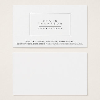 design your own white pro standard business card