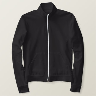 Design Your Own Womens AA Black Fleece Zip Jogger Embroidered Jacket