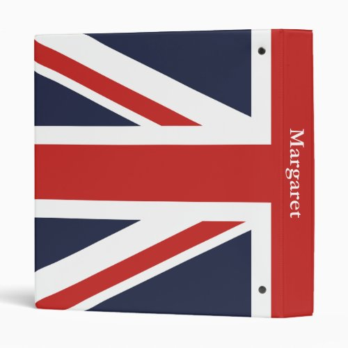 Design Your Personal Red Union Jack 3 Ring Binder