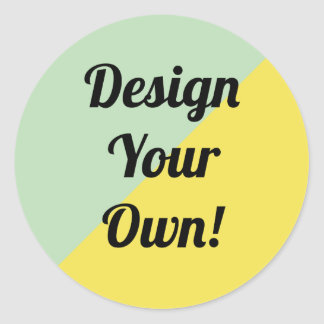 Design Your Personalise Gift Classic Round Sticker