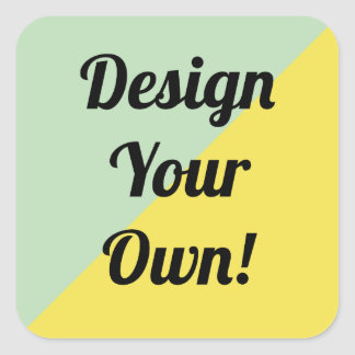 Design Your Personalise Gift Square Sticker