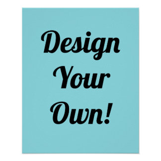 Design Your Personalised Gift Poster Custom