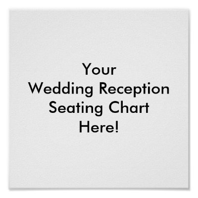 Design Your Wedding Reception Seating Chart Posters by ZazzleWeddings