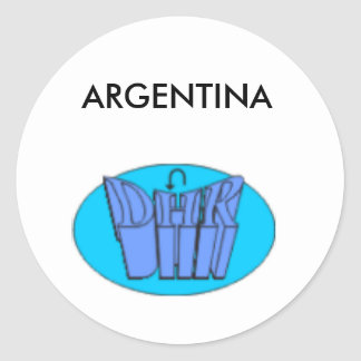 designall classic round sticker