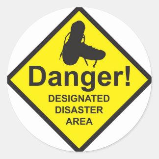 Designated Disaster Area Classic Round Sticker