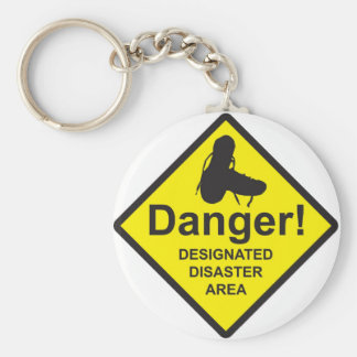 Designated Disaster Area Keychain
