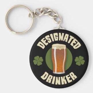 Designated Drinker Basic Round Button Keychain