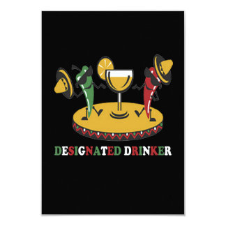 Designated Drinker Cinco de Mayo Party Invitations
