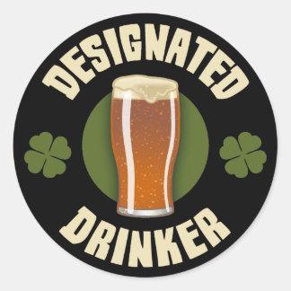 Designated Drinker Classic Round Sticker