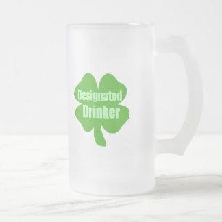 Designated Drinker Frosted Glass Beer Mug
